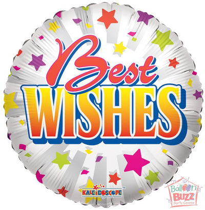 Best Wishes Stars - 18 inch - Helium-Filled Foil Balloon