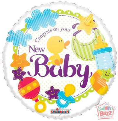 New Baby - 18 inch - Helium-Filled Foil Balloon