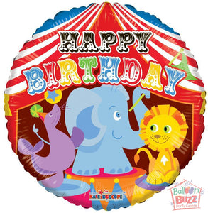 Circus Birthday - 18 inch - Helium-Filled Foil Balloon