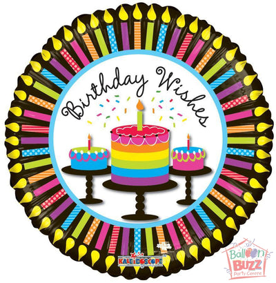 Happy Birthday Cupcakes and Candles - 18 inch - Helium-Filled Foil Balloon