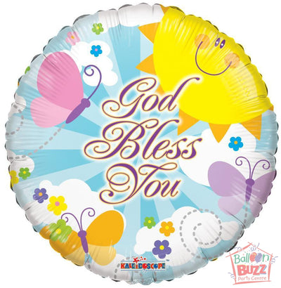 God Bless You - 18 inch - Helium-Filled Foil Balloon