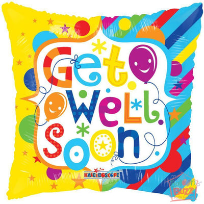 Frame Get Well Soon - 18 inch - Helium-Filled Foil Balloon