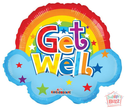 Get Well Soon Rainbow - 18 inch - Helium-Filled Foil Balloon