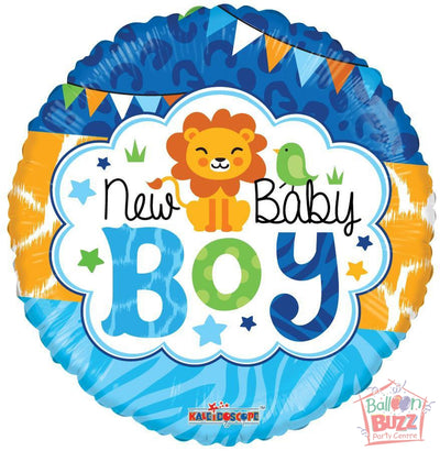 Boy Jungle - 18 inch - Helium-Filled Foil Balloon