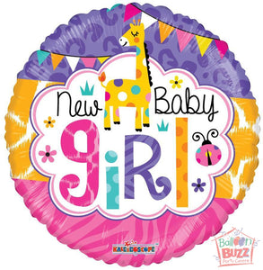 Girl Jungle - 18 inch - Helium-Filled Foil Balloon