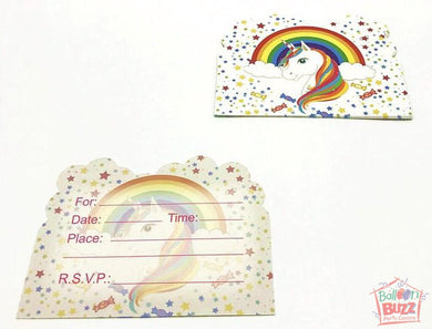 Theme Unicorn Invite Cards (6s)