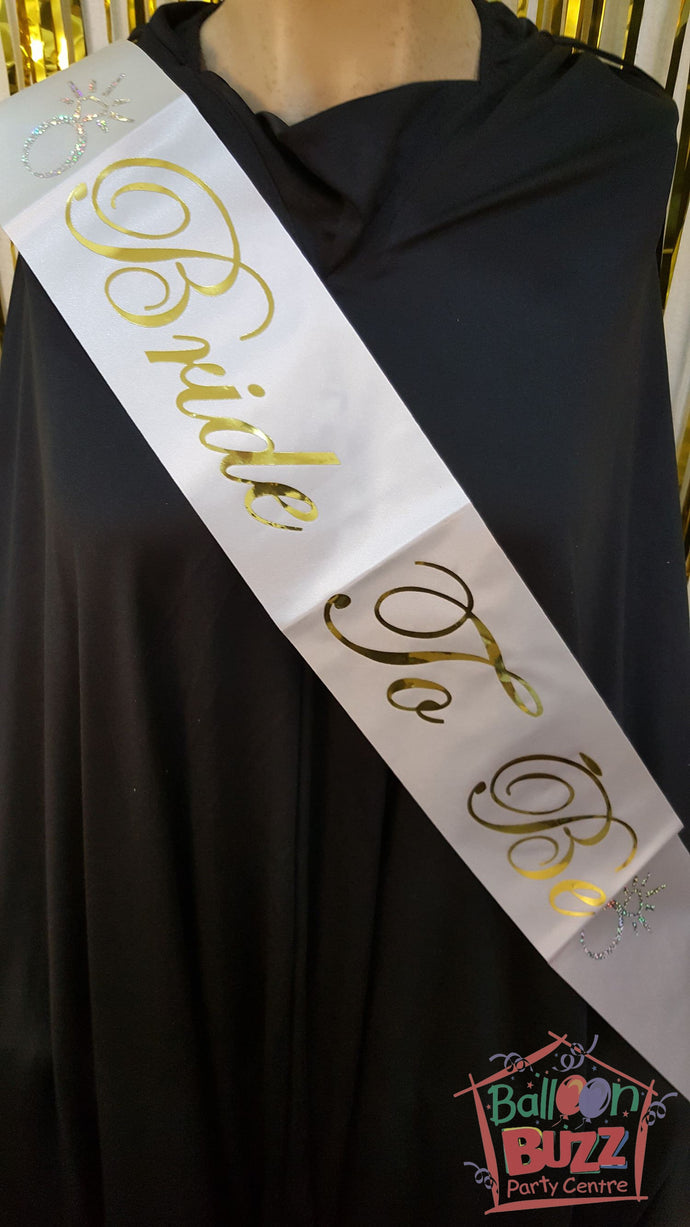 WED Bride To Be Gold Sash BB
