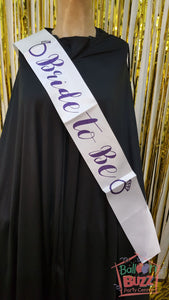 WED Bride To Be Rings Sash BB