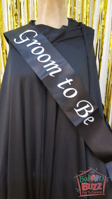 WED Groom To Be Sash BB