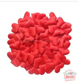 3D Confetti Wedding Hearts - Red