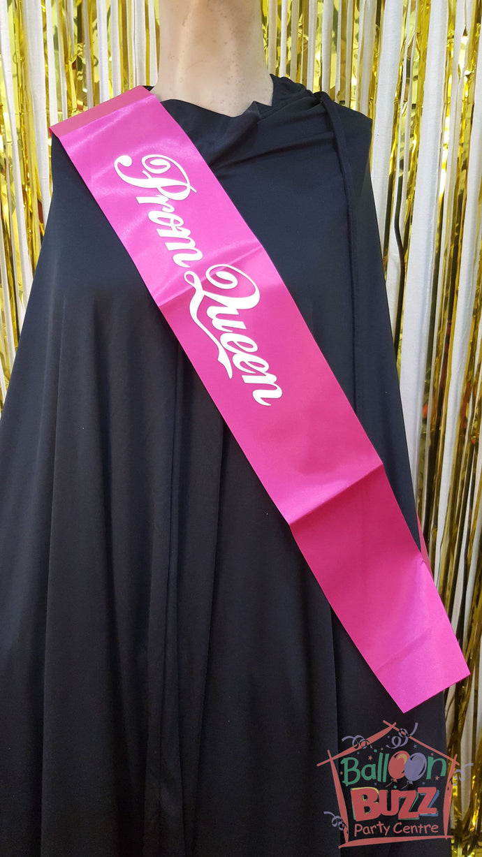 WED Prom Queen Sash BB