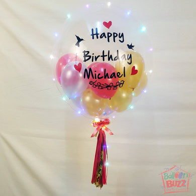 24-inch Personalized Balloons + Lights for Birthdays