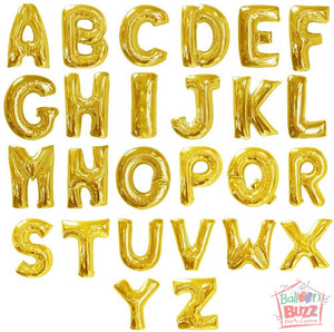 16 inch Alphabet / Number Foil Balloons