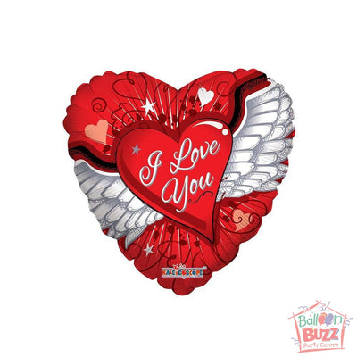 Heart With Wings - 18 inch - Helium-Filled Foil Balloon