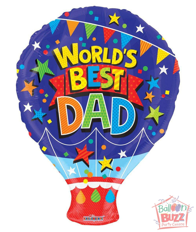 World's Best Dad - 18 inch - Helium-Filled Foil Balloon