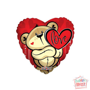 Love Bear - 18 inch - Helium-Filled Foil Balloon
