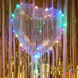 Gen Cn Clear Bubble Heart With LED Set