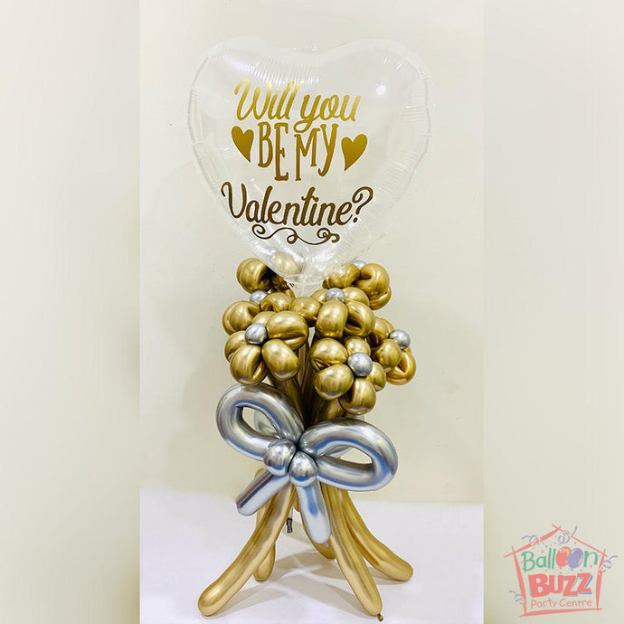 Bubble Flower Bouquet in Gold
