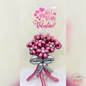 Bubble Flower Bouquet in Pink