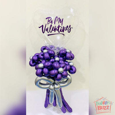 Bubble Flower Bouquet in Purple