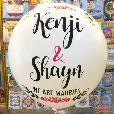 36-inch Personalized Balloons for Anniversary / Proposal