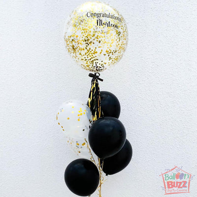 Black Gold Bubble Personalized Bouquet