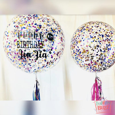 24-inch Bubble With Colorful Confetti