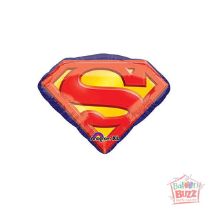 26-inch - Helium-Filled Superman Emblem Foil Balloon
