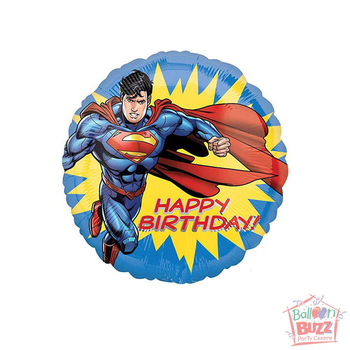 18-inch - Helium-Filled Superman Foil Balloon