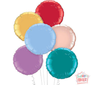 Your Choice of Helium-Filled Circle-Shaped Foil Balloons