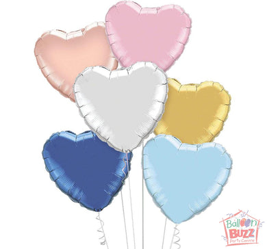 Your Choice of Helium-Filled Heart-Shaped Foil Balloons
