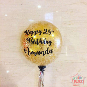 24-inch Personalized Balloons + Confetti for Birthdays