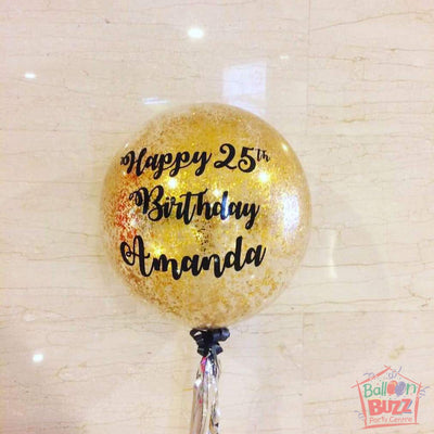 18-inch / 24-inch Personalized Balloons + Confetti for Birthdays