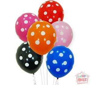 Your Choice of Helium-Filled Polka Dot Print Balloons