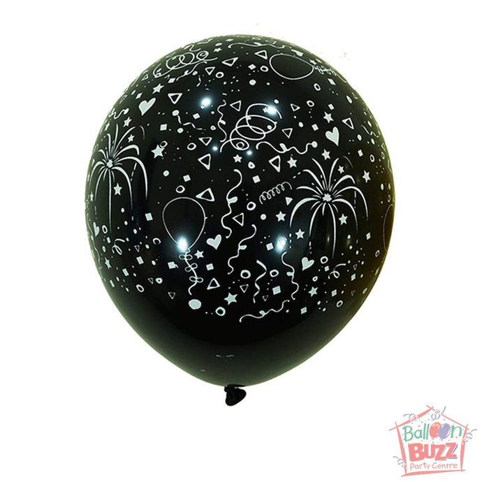 12-inch - Printed - Black Celebration - Helium-Filled Balloon