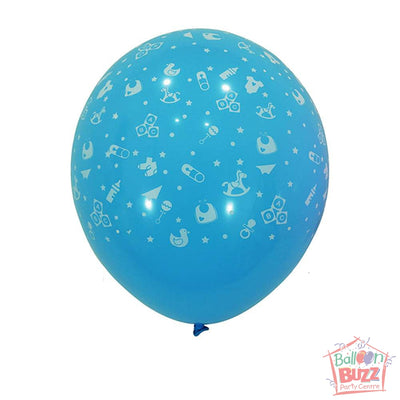 12-inch - Printed - Light Blue Baby - Helium-Filled Balloon