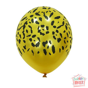 12-inch - Printed - Yellow Specks - Helium-Filled Balloon