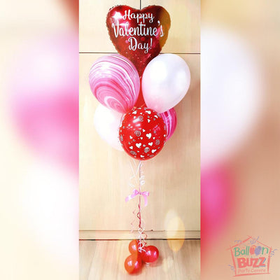 Bouquet of 6 Helium-Filled Foil and Latex Balloons