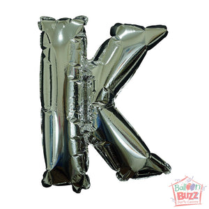 Letter K - Silver Foil Air-Filled - 16-inch