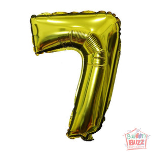 Number 7 - Gold Foil Air-Filled - 16-inch