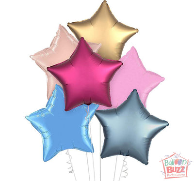 Your Choice of Helium-Filled Star-Shaped Foil Balloons