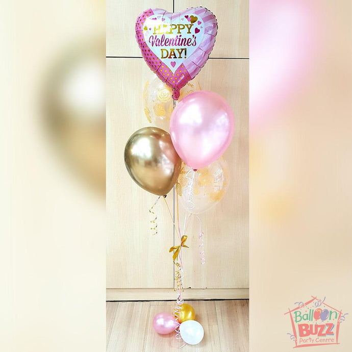 Bouquet of 5 Helium-Filled Foil and Latex Balloons