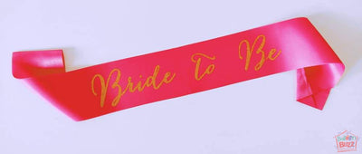 Bride To Be Sash Glitter Gold BB