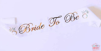 Bride To Be Gold Sash BB