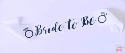 Bride To Be Rings Sash BB
