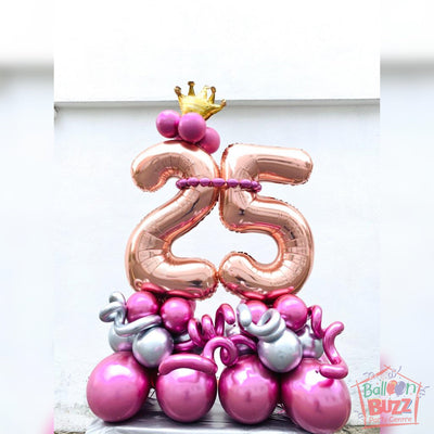 25 Birthday Queen Standing Balloon Centerpiece