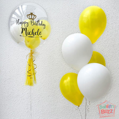 Sunshine Bubble Personalize Balloon Bouquet
