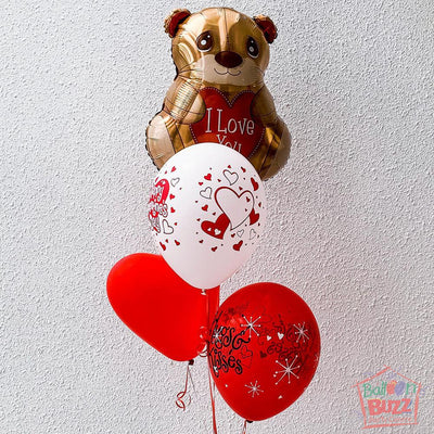 18-inch Heart You Beary Much Balloon Bouquet