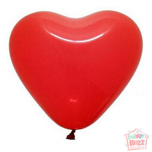 12-inch Helium-Filled Red Hearts