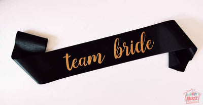Team Bride Glitter Sash BB